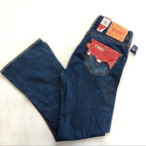 Levi's Type 1 Tough Boot Blue Jeans Size 12